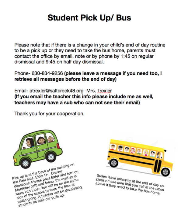 Pick Up/ Bus -Swartz