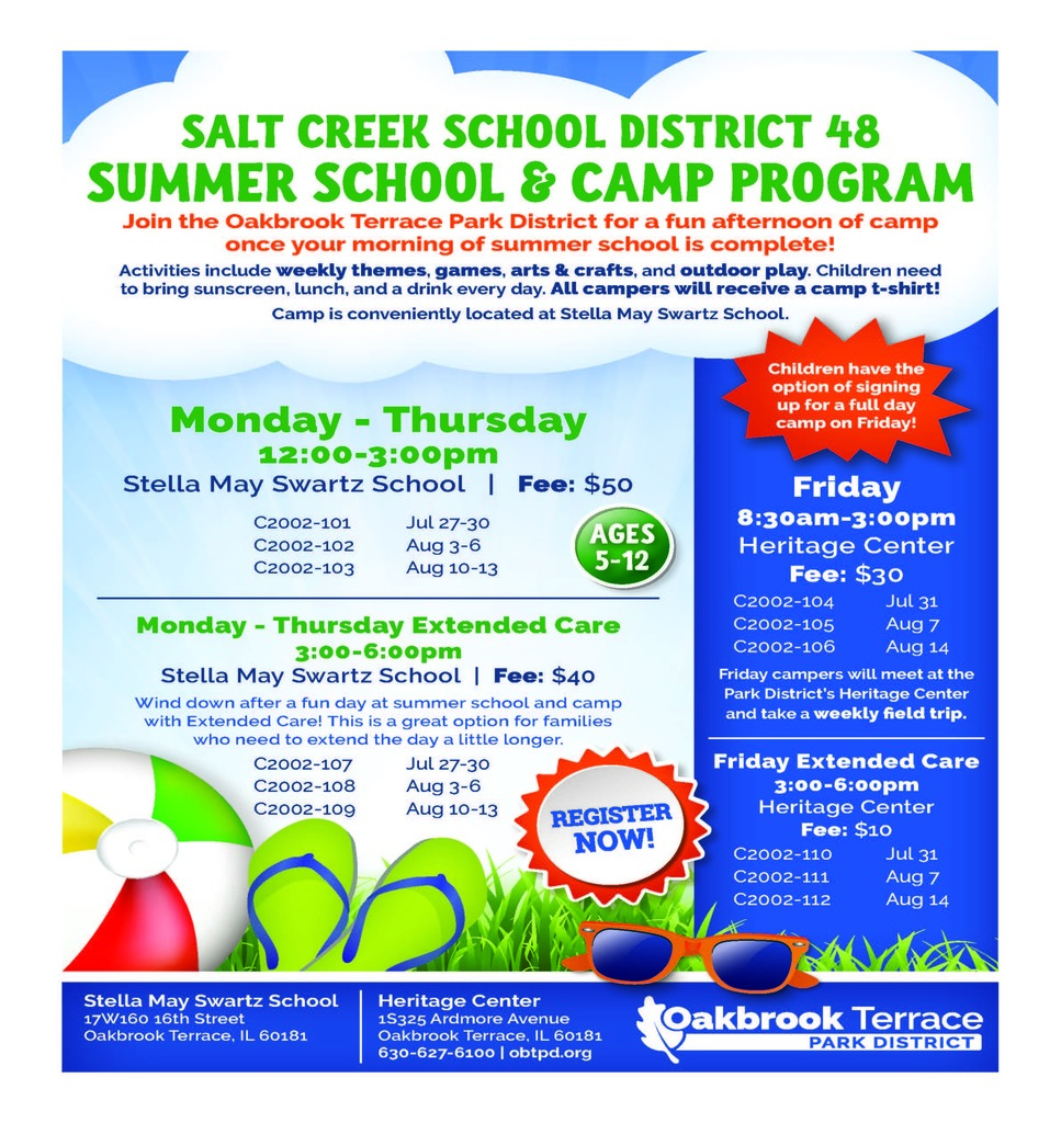 OBTPD Summer Camp