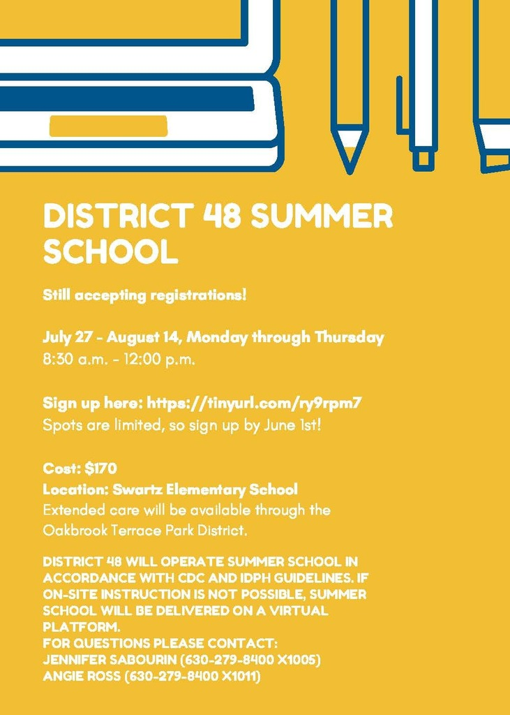 District 48 Summer School Flyer 2